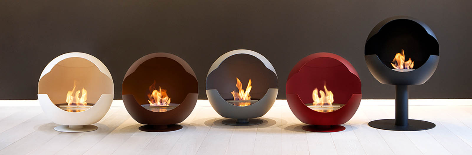 choix des différente couleur de la cheminée Vauni Globe