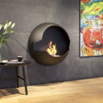 cheminee design ethanol vauni cupola bronze