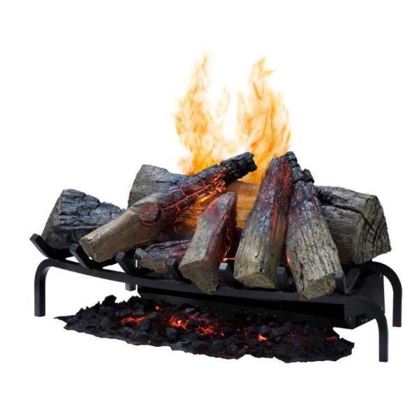 chenet electrique 3d pour cheminee bois existante dimplex silverton